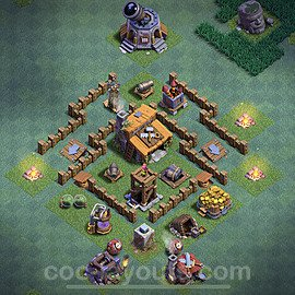 Meisterhütte LvL 3 Base / Layout - Nachtdorf COC Clash of Clans 2020 - MH3 / BH3 - (#1)