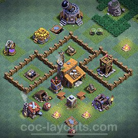 Meisterhütte LvL 3 Base / Layout - Nachtdorf COC Clash of Clans 2020 - MH3 / BH3 - (#2)
