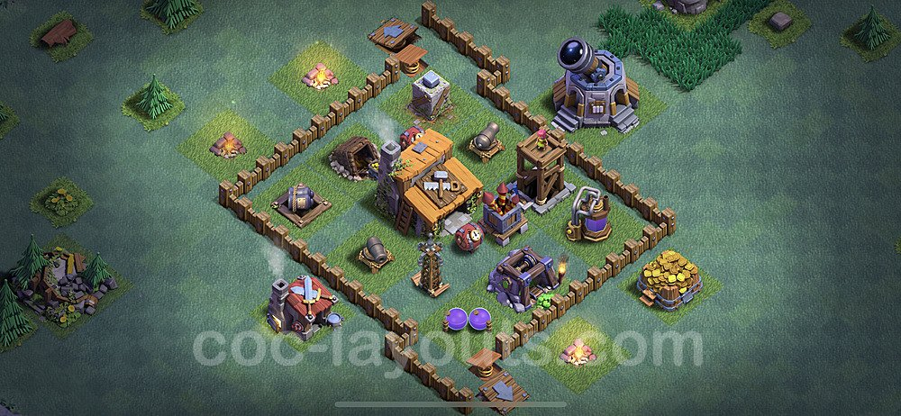 Gute Anti Alles Base Layout Meisterhütte Level 3 - BH3 / MH3 Nachtdorf - COC Clash of Clans 2020 - #12