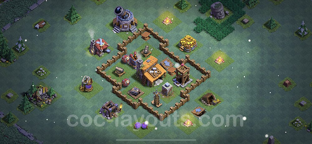 Best Builder Hall Level 3 Max Levels Base - Design 2021 - BH3 - #16