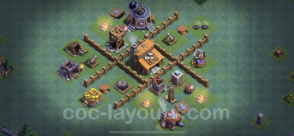 Gute Maximal Base Layout Meisterhütte Level 3 - BH3 / MH3 Nachtdorf - COC Clash of Clans 2020 - #9