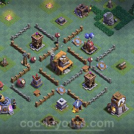 Meisterhütte LvL 4 Base + Link / Layout - Nachtdorf COC Clash of Clans 2020 - MH4 / BH4 - (#12)