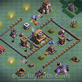Meisterhütte LvL 4 Base + Link / Layout - Nachtdorf COC Clash of Clans 2020 - MH4 / BH4 - (#16)