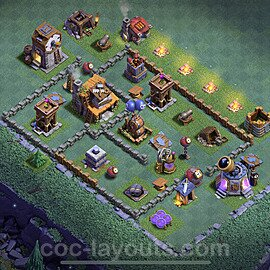 Gute Maximal Base Layout Meisterhütte Level 4 + Link - BH4 / MH4 Nachtdorf - COC Clash of Clans 2021 - #17