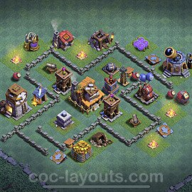 Gute Maximal Base Layout Meisterhütte Level 4 + Link - BH4 / MH4 Nachtdorf - COC Clash of Clans 2021 - #18