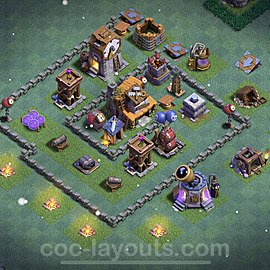 Gute Maximal Base Layout Meisterhütte Level 4 + Link - BH4 / MH4 Nachtdorf - COC Clash of Clans 2021 - #20