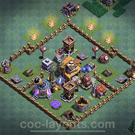 Gute Anti Alles Base Layout Meisterhütte Level 4 + Link - BH4 / MH4 Nachtdorf - COC Clash of Clans 2020 - #4