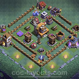 Meisterhütte LvL 4 Base + Link / Layout - Nachtdorf COC Clash of Clans 2020 - MH4 / BH4 - (#6)