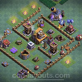 Meisterhütte LvL 4 Base + Link / Layout - Nachtdorf COC Clash of Clans 2020 - MH4 / BH4 - (#9)