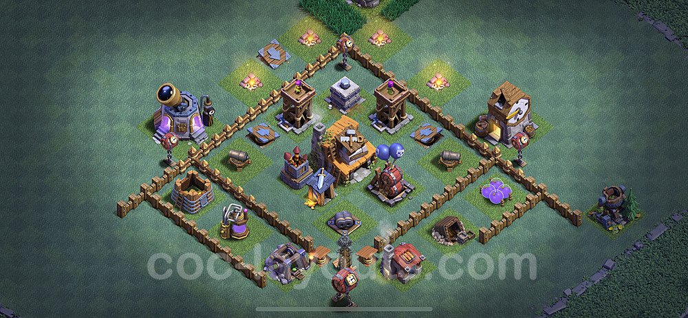 Best Builder Hall Level 4 Anti Everything Base with Link - Copy Design 2020 - BH4 - #10