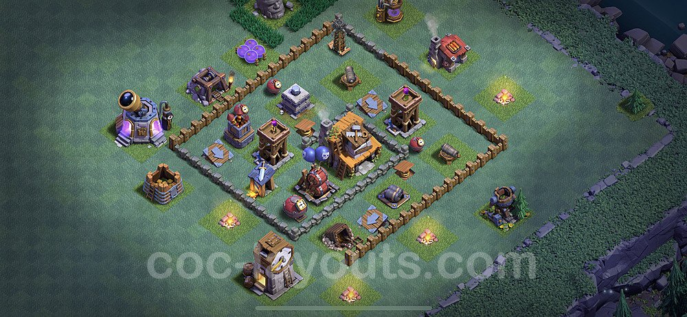 Best Builder Hall Level 4 Anti Everything Base with Link - Copy Design 2020 - BH4 - #13
