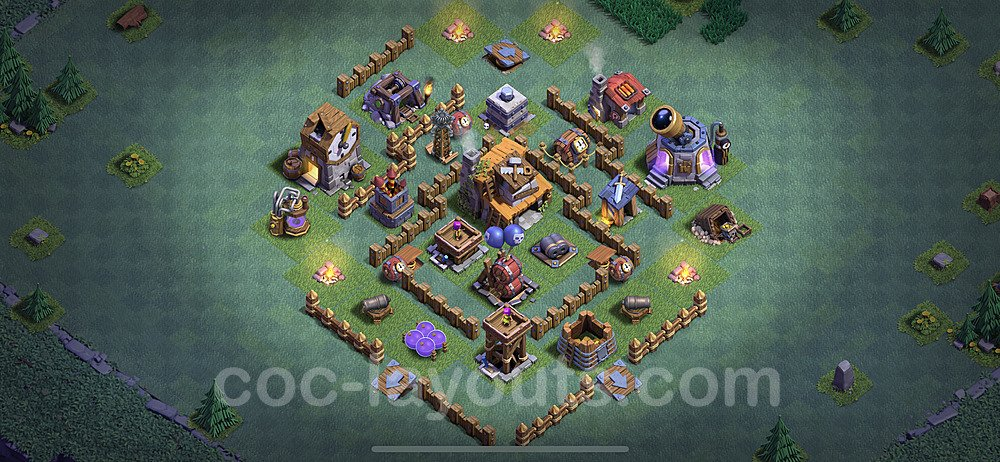 Meisterhütte LvL 4 Base + Link / Layout - Nachtdorf COC Clash of Clans 2020 - MH4 / BH4 - (#2)