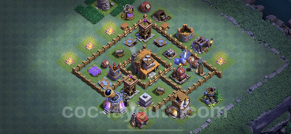 Diseño de aldea con Taller del Constructor nivel 4 Copiar - Perfecta COC Clash of Clans 2020 Base + Enlace - (#8)