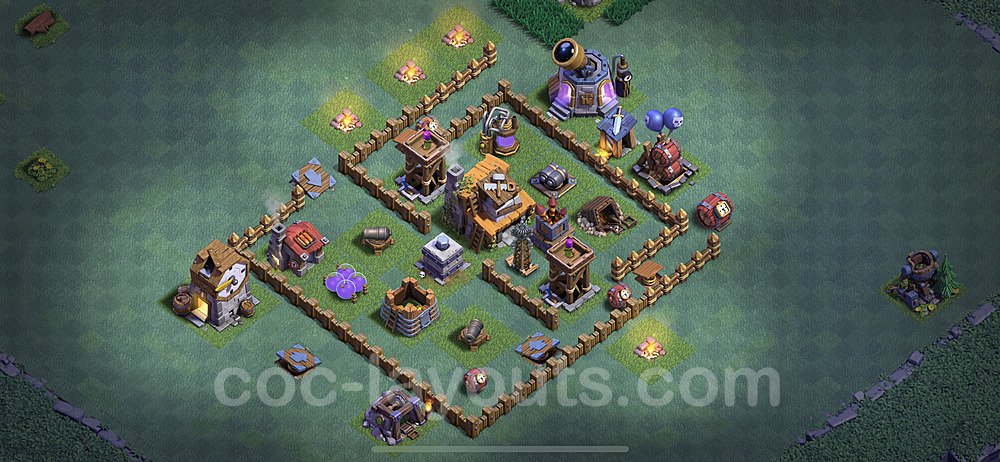 Best Builder Hall Level 4 Base with Link - Clash of Clans 2020 - BH4 Copy - (#9)