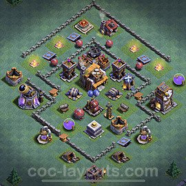 Impenetrable aldea 2020 para Taller del Constructor nivel 5 Copiar - COC Base + Enlace - #10