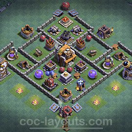 Gute Maximal Base Layout Meisterhütte Level 5 + Link - BH5 / MH5 Nachtdorf - COC Clash of Clans 2020 - #12