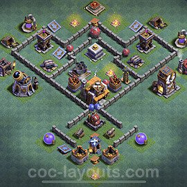 Diseño de aldea con Taller del Constructor nivel 5 Copiar - Perfecta COC Clash of Clans 2020 Base + Enlace - (#15)