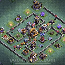 Gute Maximal Base Layout Meisterhütte Level 5 + Link - BH5 / MH5 Nachtdorf - COC Clash of Clans 2020 - #16