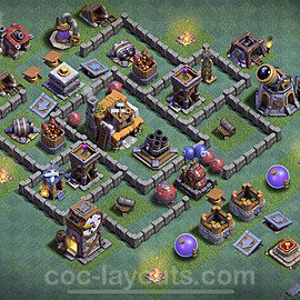 Meisterhütte LvL 5 Base + Link / Layout - Nachtdorf COC Clash of Clans 2020 - MH5 / BH5 - (#17)