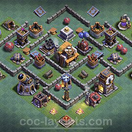 Gute Maximal Base Layout Meisterhütte Level 5 + Link - BH5 / MH5 Nachtdorf - COC Clash of Clans 2020 - #18