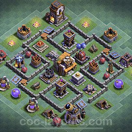 Unbeatable Builder Hall Level 5 Base with Link - Copy Design 2020 - BH5 - #19
