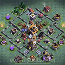 Best Builder Hall Level 5 Anti 2 Stars Base with Link - Copy Design 2020 - BH5 - #21