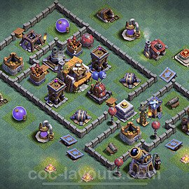 Best Builder Hall Level 5 Anti 2 Stars Base with Link - Copy Design 2020 - BH5 - #23