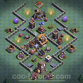 Best Builder Hall Level 5 Max Levels Base with Link - Copy Design 2020 - BH5 - #25