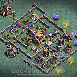 Best Builder Hall Level 5 Max Levels Base with Link - Copy Design 2020 - BH5 - #26