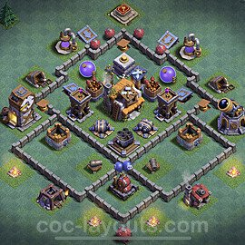Best Builder Hall Level 5 Max Levels Base with Link - Copy Design 2020 - BH5 - #27