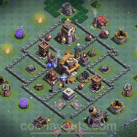 Best Builder Hall Level 5 Anti 2 Stars Base with Link - Copy Design 2021 - BH5 - #31