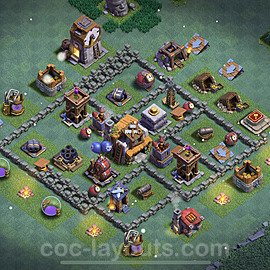 Best Builder Hall Level 5 Anti 3 Stars Base with Link - Copy Design 2021 - BH5 - #32