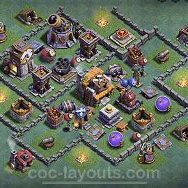 Best Builder Hall Level 5 Anti Everything Base with Link - Copy Design 2021 - BH5 - #36