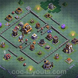 Best Builder Hall Level 5 Anti Everything Base with Link - Copy Design 2021 - BH5 - #39