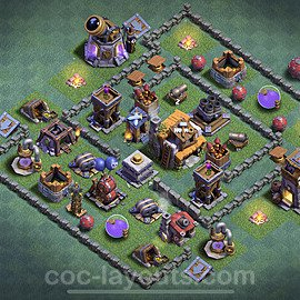 Best Builder Hall Level 5 Anti 2 Stars Base with Link - Copy Design 2020 - BH5 - #4