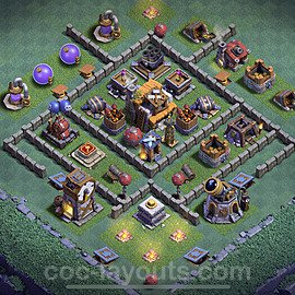 Gute Maximal Base Layout Meisterhütte Level 5 + Link - BH5 / MH5 Nachtdorf - COC Clash of Clans 2020 - #8