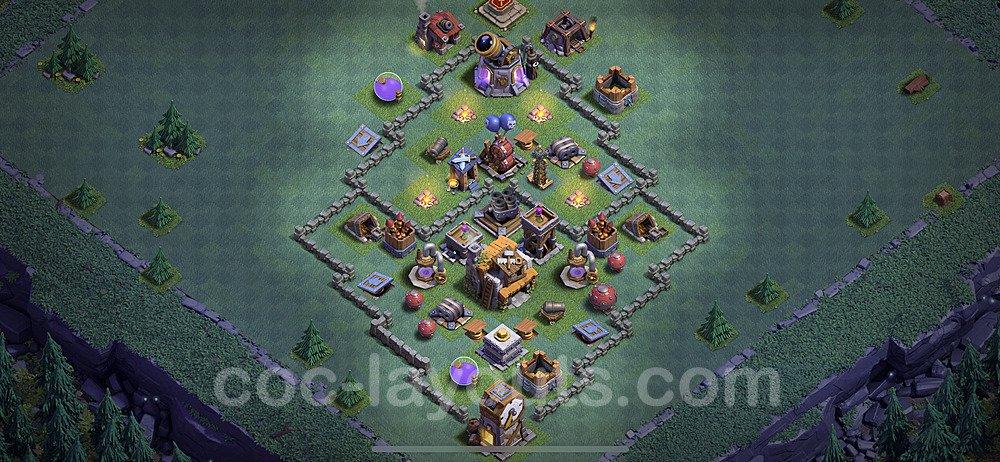 Best Builder Hall Level 5 Anti 3 Stars Base with Link - Copy Design 2020 - BH5 - #1