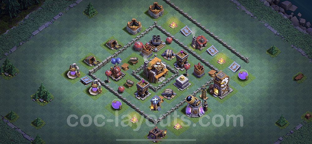 Diseño de aldea con Taller del Constructor nivel 5 Copiar - Perfecta COC Clash of Clans 2020 Base + Enlace - (#11)