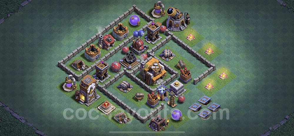 Best Builder Hall Level 5 Anti 3 Stars Base with Link - Copy Design 2020 - BH5 - #14