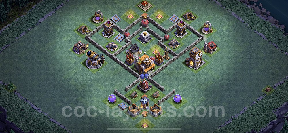 Meisterhütte LvL 5 Base + Link / Layout - Nachtdorf COC Clash of Clans 2020 - MH5 / BH5 - (#15)