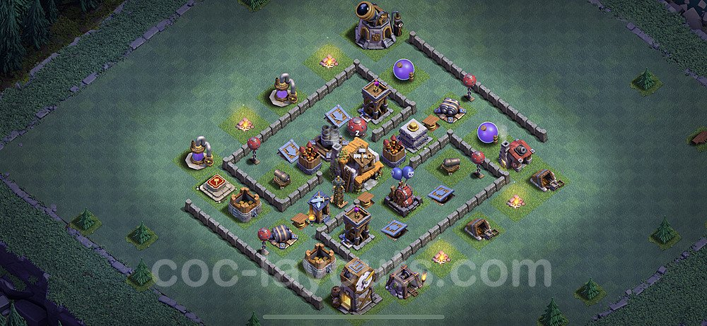 Best Builder Hall Level 5 Max Levels Base with Link - Copy Design 2020 - BH5 - #16