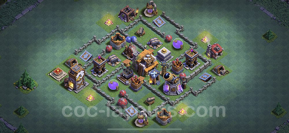 Gute Anti Alles Base Layout Meisterhütte Level 5 + Link - BH5 / MH5 Nachtdorf - COC Clash of Clans 2020 - #2