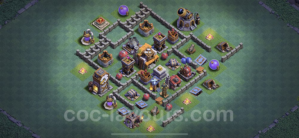Gute Anti Alles Base Layout Meisterhütte Level 5 + Link - BH5 / MH5 Nachtdorf - COC Clash of Clans 2020 - #22