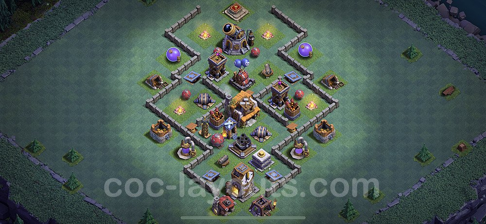 Gute Maximal Base Layout Meisterhütte Level 5 + Link - BH5 / MH5 Nachtdorf - COC Clash of Clans 2020 - #25