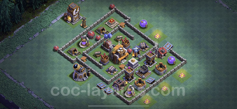 Layout da base Vila do Construtor CV5 com link 2020, #26