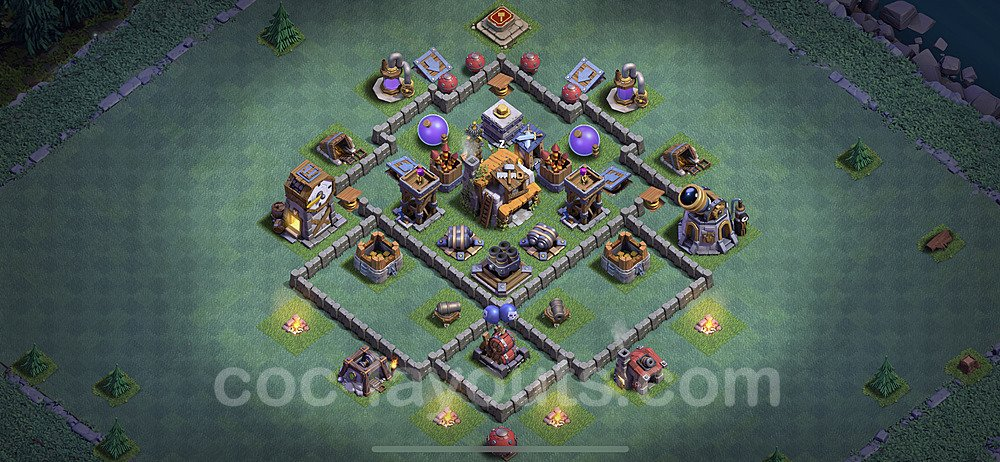 Gute Maximal Base Layout Meisterhütte Level 5 + Link - BH5 / MH5 Nachtdorf - COC Clash of Clans 2020 - #27