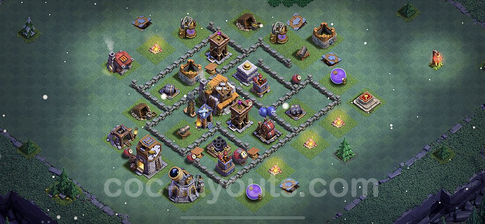 Diseño de aldea con Taller del Constructor nivel 5 Copiar - Perfecta COC Clash of Clans 2021 Base + Enlace - (#29)