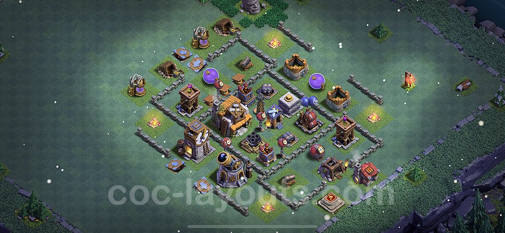 Meisterhütte LvL 5 Base + Link / Layout - Nachtdorf COC Clash of Clans 2021 - MH5 / BH5 - (#33)