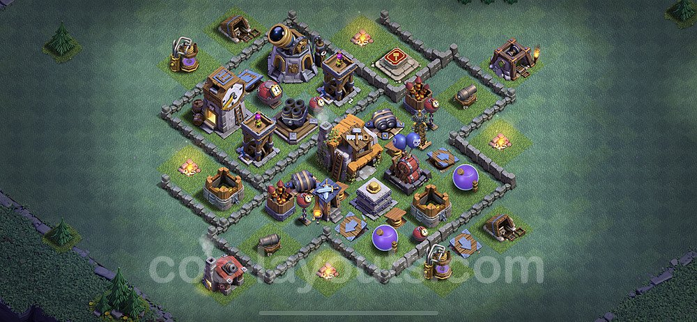 Gute Anti Alles Base Layout Meisterhütte Level 5 + Link - BH5 / MH5 Nachtdorf - COC Clash of Clans 2021 - #36