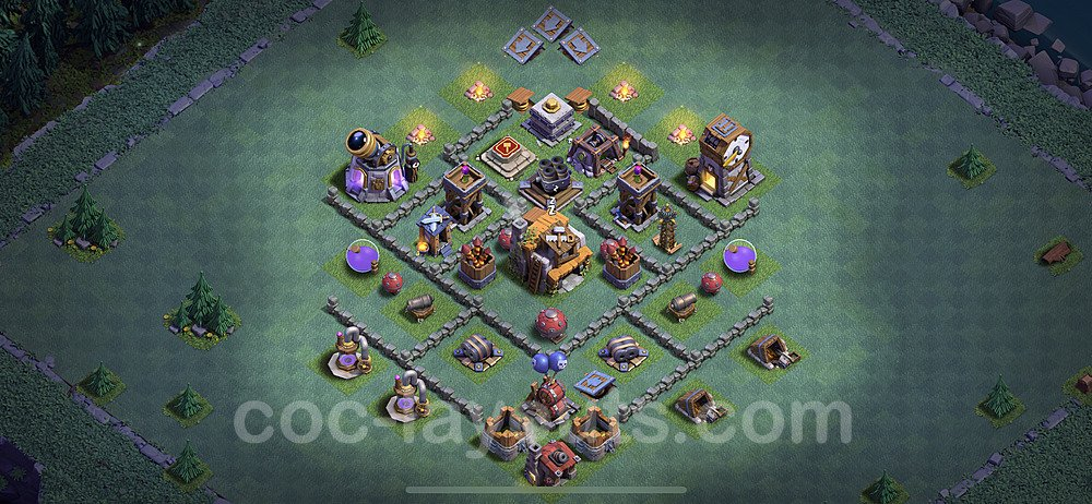 Diseño de aldea con Taller del Constructor nivel 5 Copiar - Perfecta COC Clash of Clans 2020 Base + Enlace - (#6)